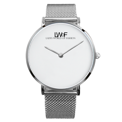 Image of Silver Lwof Ladys World Of Fashion Steel Strap Water-Resistance Quartz Watch - Diameter 33Mm For-Her