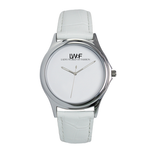 Lwof Ladys World Of Fashion Silver Metal Water Resistant Quartz Watch White - Diameter 34Mm For-Her