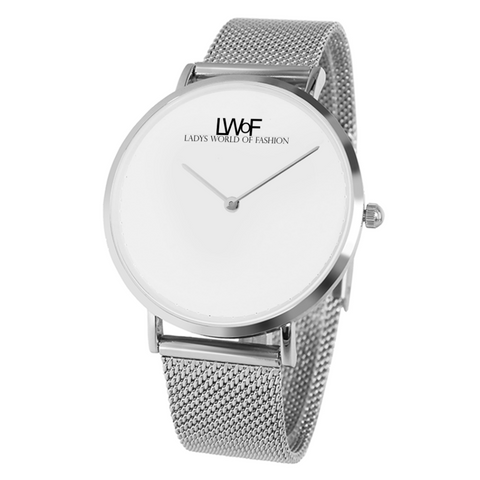 Image of Silver Lwof Ladys World Of Fashion Steel Strap Water-Resistance Quartz Watch