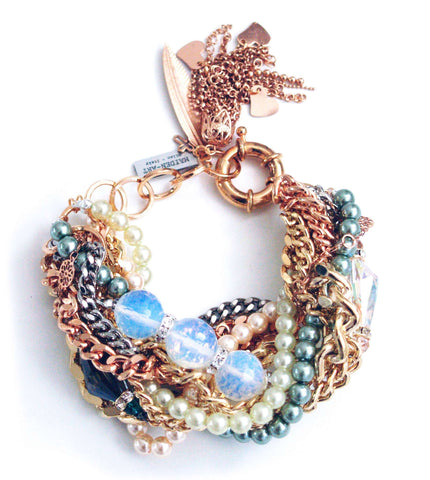 Statement Bracelet With Opal Stones And Charms Jewelry & Accessories - Bracelets Bangles
