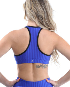 SALE! 50% OFF! Firenze Activewear Sports Bra - Blue [MADE IN ITALY] - Size Small