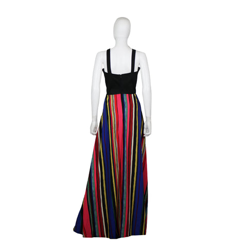 Overall Maxi Dress - A-Line Printed