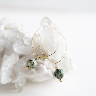 Lenny Gemstone Earrings-African Turquoise