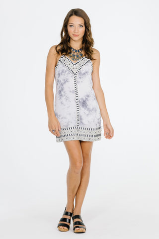 Image of In A Dream Short Dress Grey / Xs Women - Apparel Dresses Casual
