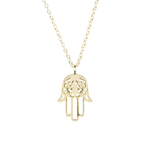 Cosmic Hamsa Necklace Gold Women - Jewelry Necklaces