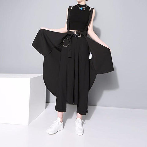 Alcalay Suspender Skirt Womens Fashion - Clothing