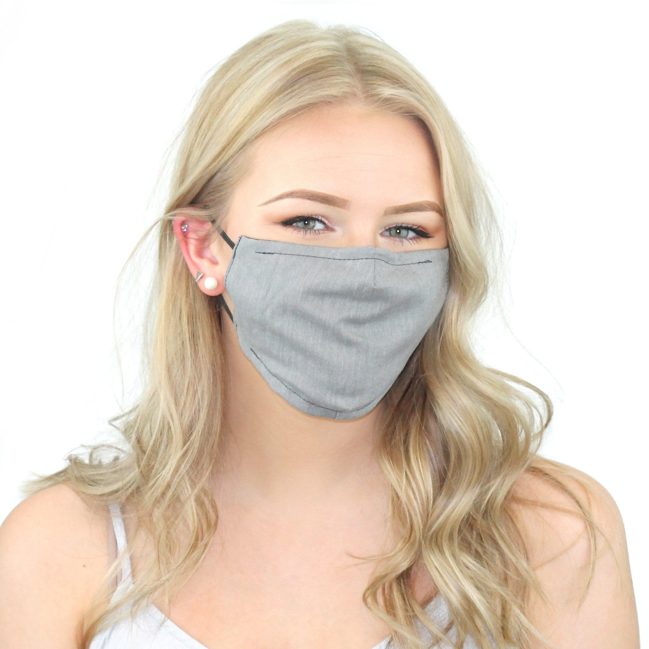 Reusable Cloth Face Mask With Pm2.5 Filter And Nose Bridge Grey Beauty & Health