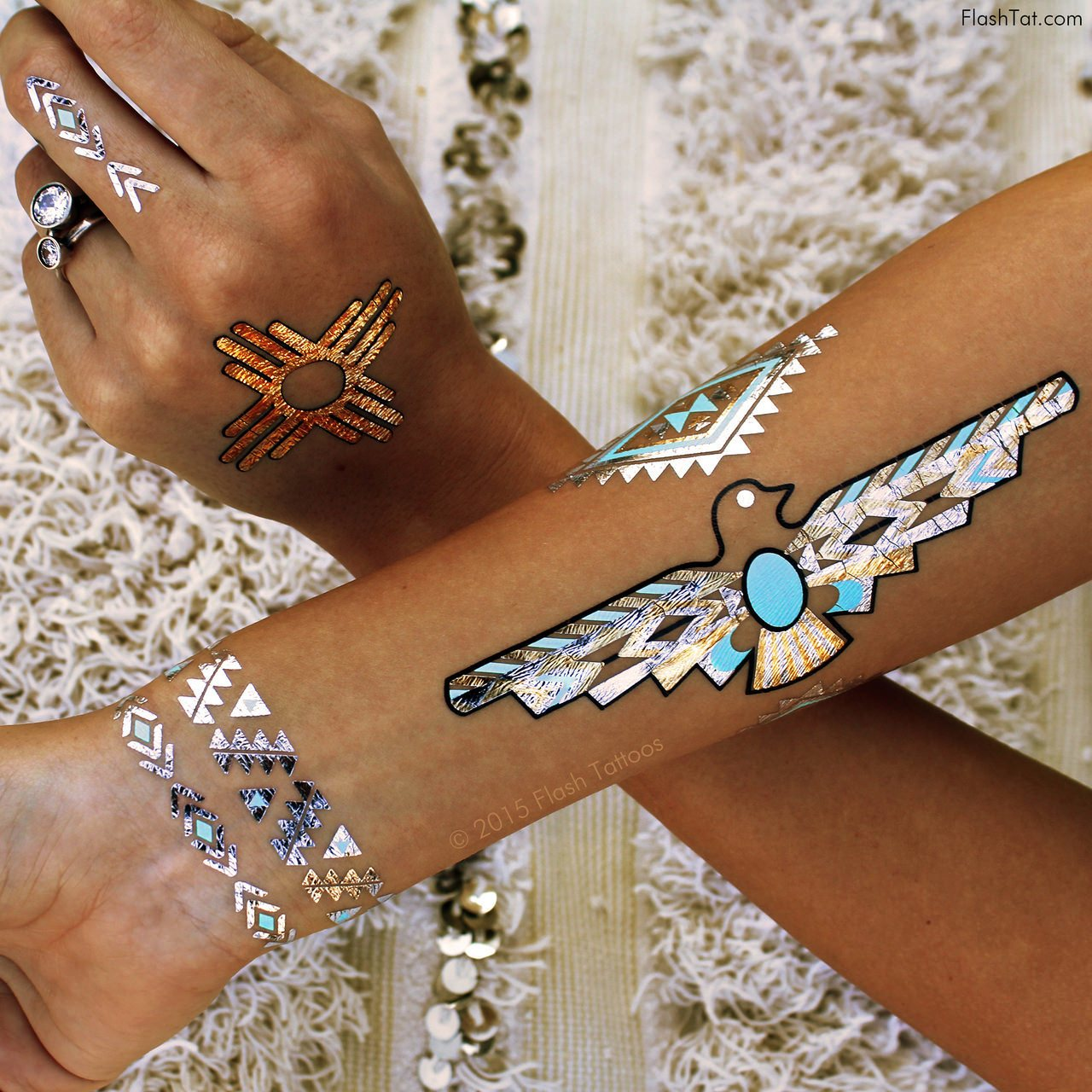 Desert Dweller Metallic Temporary Tattoo Pack Beauty & Health - Body Art Tattoos