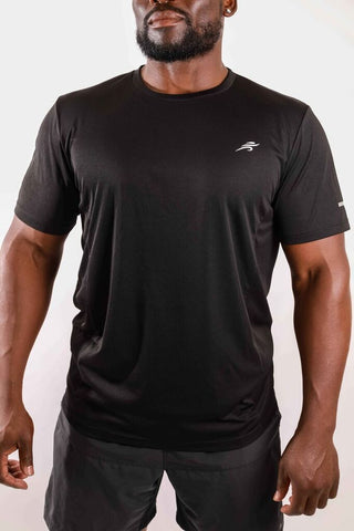 Image of Burk Short Sleeve Shirt - Black With White Logo