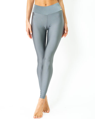 Samba Ultra-Stretch Uv Protected Compression Leggings - Zinc Women Apparel Activewear