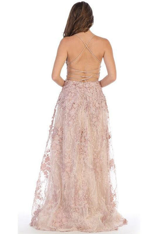 Long White Lace Prom Dress Formal Evening Gown