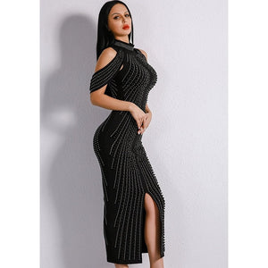 Mid Calf Studded Dress Women - Apparel Dresses Evening