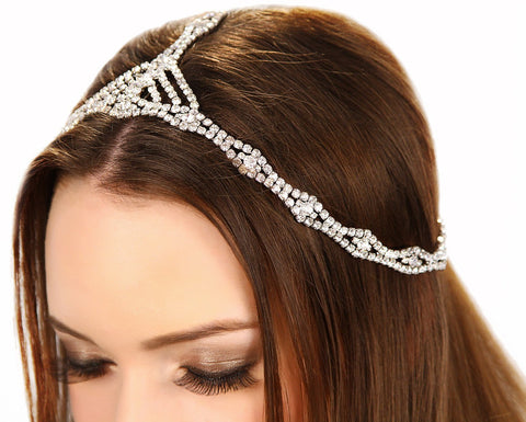 Image of Rhinestone Cleo Headpiece Womens Fashion - Accessories Hair