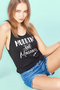 Muddin And Mascara Scoop Neck Flowy Tank Top