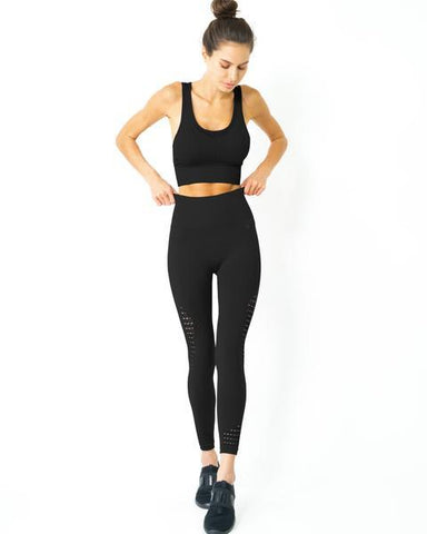 Image of Mesh Seamless Set - Black