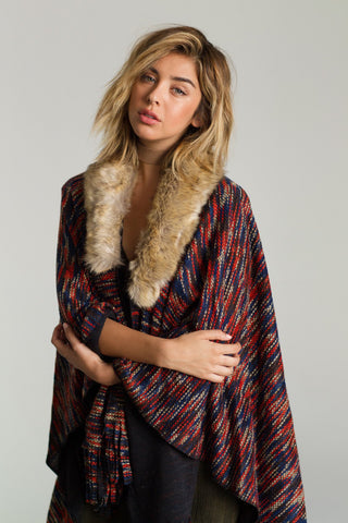Image of On The Hunt Poncho Womens Fashion - Clothing Blouses & Shirts