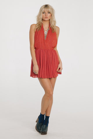 Image of Be Mine Mini Dress Xs / Coral Women - Apparel Dresses Casual