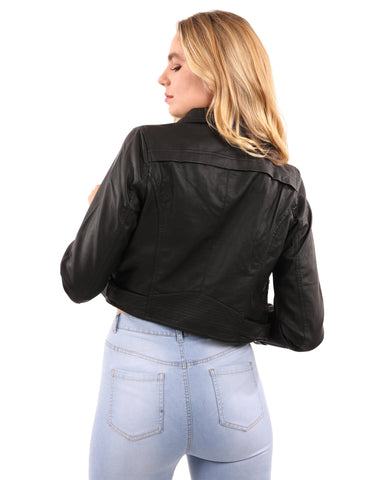 Image of Altridge Vegan Leather Moto Jacket