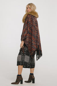 On The Hunt Poncho Womens Fashion - Clothing Blouses & Shirts