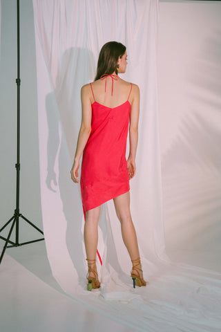 Ladder Of Love Short Dress In Pink Red Womens Fashion - Clothing Sleeveless