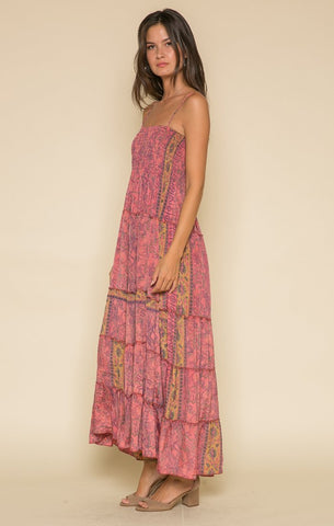 Image of Passion Struck Smocked Maxi Dress Women - Apparel Dresses