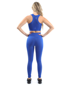 SALE! 50% OFF! Milano Seamless Legging - Blue [MADE IN ITALY] - Size Small