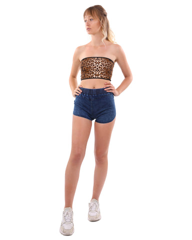 Image of Betty Leopard Print Fashion Tube Top
