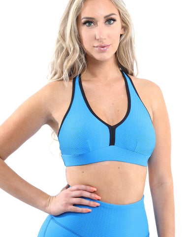 SALE! 50% OFF! Positano Activewear Sports Bra - Aqua [MADE IN ITALY] - Size Small