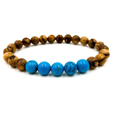 Grove | Turquoise Howlite & Light Sandalwood Jewelry Accessories - Bracelets Bangles