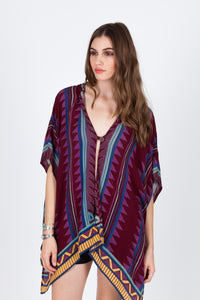 Neo Tribal Hoodie Women - Apparel Shirts Tunics