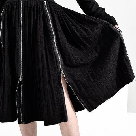 Ariana Zipper Split Empire Hem Skirt Sports & Entertainment - Clothing Skirts