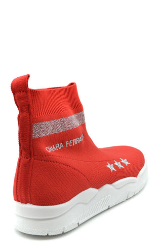 Image of Shoes Chiara Ferragni High-Top Sneakers - Woman