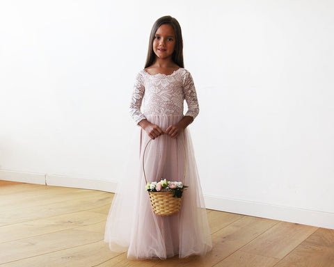 Image of Mini Me Collection Blush Mommy And Dress Wedding Kids & Babies - Mother Girls Clothing