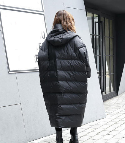Image of Hina Loose Hooded Parka Womens Fashion - Clothing Jackets & Coats Parkas