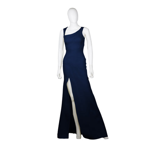 Asymmetric Neckline Evening Dress