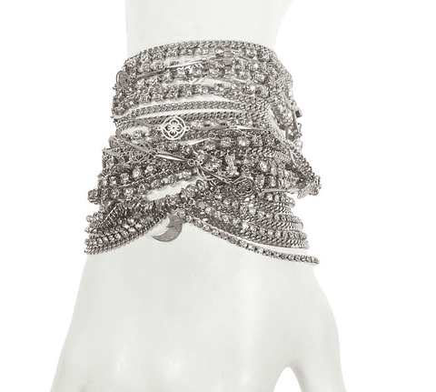 Image of Silver Swarovski Crystals Statement Bracelet Jewelry & Accessories - Bracelets Bangles Cuff