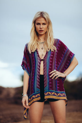 Image of Neo Tribal Hoodie Women - Apparel Shirts Tunics