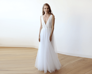 Ivory Sequins And Tulle Bridal Wedding Gown Womens Fashion - Weddings & Events