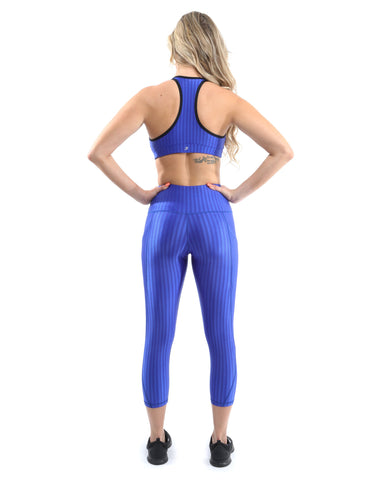 Image of SALE! 50% OFF! Firenze Activewear Capri Leggings - Blue [MADE IN ITALY] - Size Small