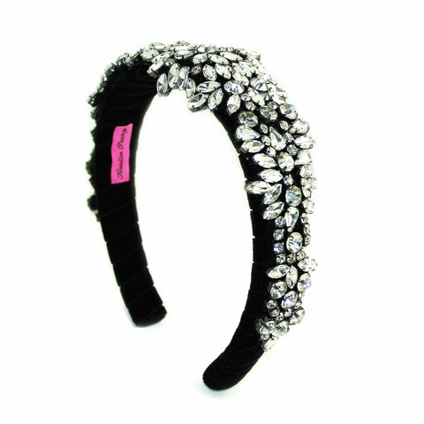 Image of Crusted Crystals Headband Black Women - Accessories Hair