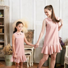 Load image into Gallery viewer, Set of 2 Pink Ruffle Drop Waist Dress