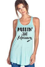 Load image into Gallery viewer, Muddin And Mascara Scoop Neck Flowy Tank Top