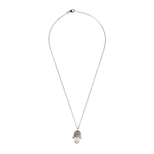Cosmic Hamsa Necklace Women - Jewelry Necklaces