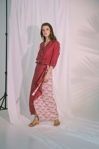Storge Shirt In Claret Womens Fashion - Clothing Blouses & Shirts