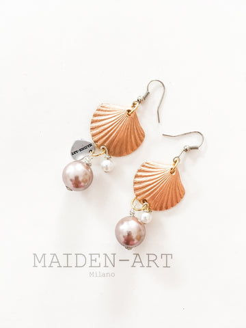 Statement Earrings With Shell Charms And Pearls. Jewelry & Accessories -