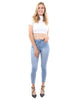 Talus High Waisted Skinny Jeans - Light Blue