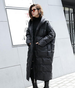 Hina Loose Hooded Parka Womens Fashion - Clothing Jackets & Coats Parkas
