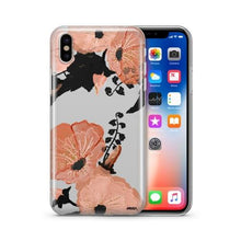 Load image into Gallery viewer, Peachy Floral - Clear TPU Case Cover