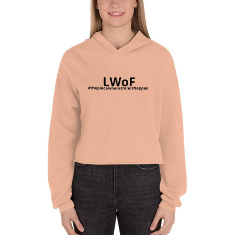 Image of Lwof - Ladys World Of Fashion Crop Hoodie Peach / S