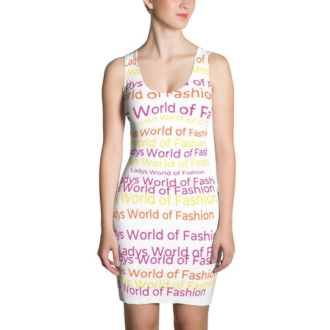 Image of Lwof - Ladys World Of Fashion Rainbow Sublimation Cut & Sew Dress Xs